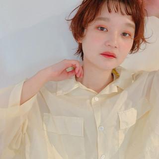 ダブルカラー ショート ウルフカット ナチュラル ヘアスタイルや髪型の写真・画像