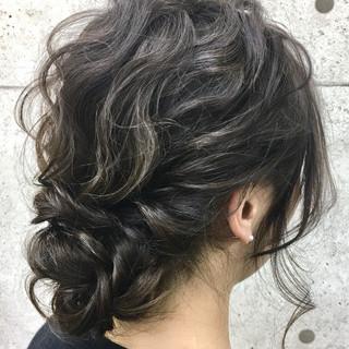 結婚式 エレガント ヘアアレンジ 二次会 ヘアスタイルや髪型の写真・画像