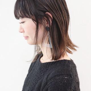 外ハネボブ ミディアム グラデーションカラー ストレート ヘアスタイルや髪型の写真・画像 ヘアスタイルや髪型の写真・画像