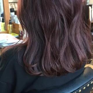アンニュイほつれヘア ヘアアレンジ セミロング ナチュラル ヘアスタイルや髪型の写真・画像