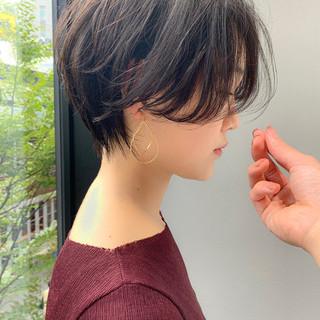 ナチュラル ショートヘア 大人ショート ショートボブ ヘアスタイルや髪型の写真・画像