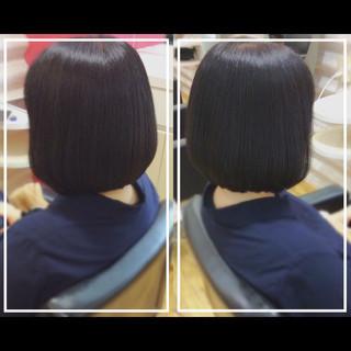 髪質改善 髪質改善トリートメント ナチュラル ボブ ヘアスタイルや髪型の写真・画像