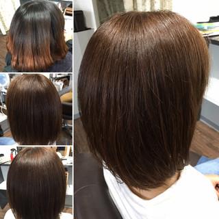 ミディアム 最新トリートメント 髪質改善 髪質改善トリートメント ヘアスタイルや髪型の写真・画像