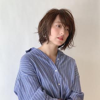ハイライト ナチュラル ゆるふわパーマ 大人可愛い ヘアスタイルや髪型の写真・画像