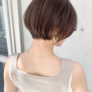 ショート ワンカールパーマ ショートヘア ショートボブ ヘアスタイルや髪型の写真・画像