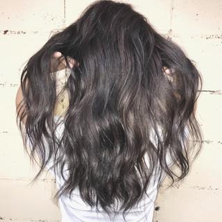 抜け感 モード グレージュ アッシュグレー ヘアスタイルや髪型の写真・画像