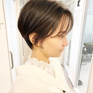 ショートヘア ショート デート 大人かわいい ヘアスタイルや髪型の写真・画像