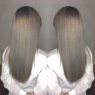 かわいい ヘアアレンジ ブリーチ ロング ヘアスタイルや髪型の写真・画像