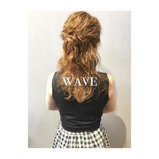 エフォートレス フェミニン ピンク ベージュ ヘアスタイルや髪型の写真・画像