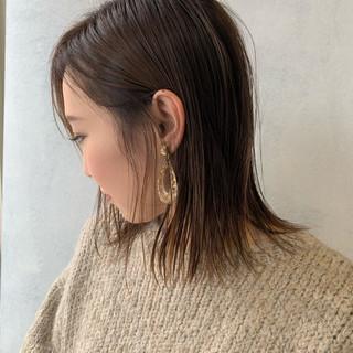 3Dハイライト ミニボブ モード ボブ ヘアスタイルや髪型の写真・画像