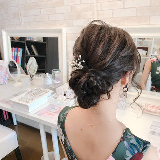 黒髪 ヘアアレンジ 結婚式 ロング ヘアスタイルや髪型の写真・画像 ヘアスタイルや髪型の写真・画像
