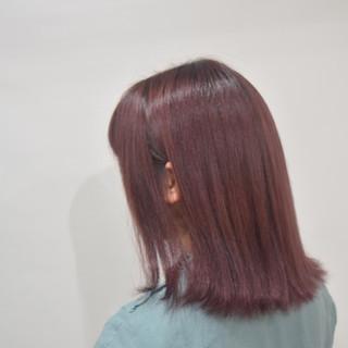 ボブ ベリーピンク ピンク ラズベリーピンク ヘアスタイルや髪型の写真・画像