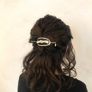 デート フェミニン オフィス 結婚式 ヘアスタイルや髪型の写真・画像