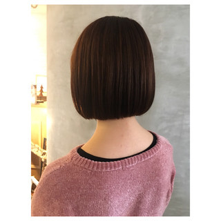ミニボブ 切りっぱなしボブ ボブ タンバルモリ ヘアスタイルや髪型の写真・画像