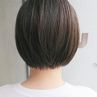 ショート オフィス ハンサムショート 黒髪 ヘアスタイルや髪型の写真・画像