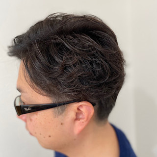 パーマ ストリート メンズパーマ 無造作パーマ ヘアスタイルや髪型の写真・画像