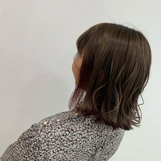 ナチュラル N.オイル ミディアム 切りっぱなしボブ ヘアスタイルや髪型の写真・画像