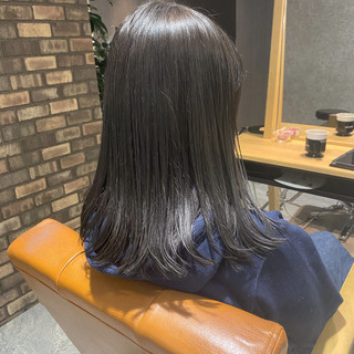 セミロング 卒業式 ツヤ髪 ダメージレス ヘアスタイルや髪型の写真・画像