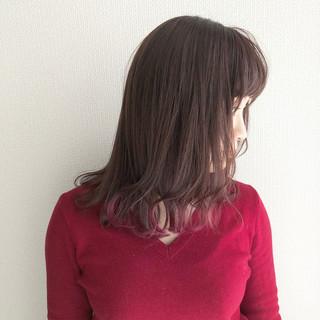 フェミニン ピンクラベンダー ラベンダーカラー チェリーピンク ヘアスタイルや髪型の写真・画像