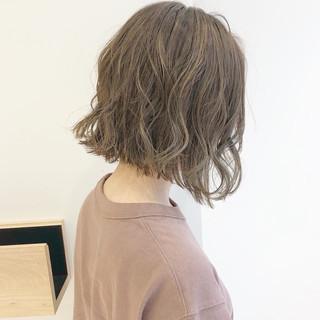ナチュラル ボブ デート 簡単ヘアアレンジ ヘアスタイルや髪型の写真・画像