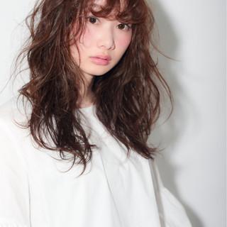 ゆるふわ セミロング 簡単ヘアアレンジ ナチュラル ヘアスタイルや髪型の写真・画像