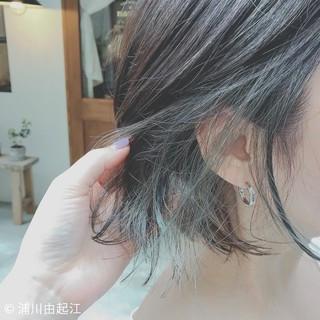 モード ゆるふわ 大人かわいい インナーカラー ヘアスタイルや髪型の写真・画像