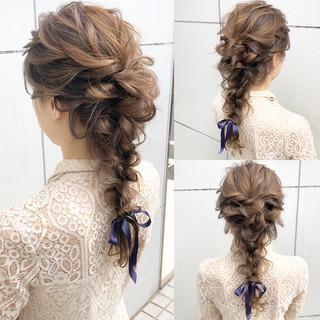 簡単ヘアアレンジ デート ナチュラル 結婚式 ヘアスタイルや髪型の写真・画像