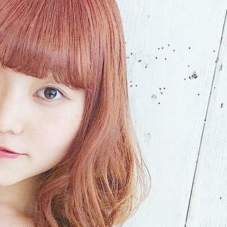 オレンジ ストリート 透明感 ハイトーン ヘアスタイルや髪型の写真・画像