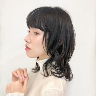ヘアアレンジ ミディアム 大人可愛い ワンカール ヘアスタイルや髪型の写真・画像