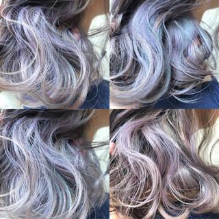 ミディアム ストリート 外国人風カラー ダブルカラー ヘアスタイルや髪型の写真・画像