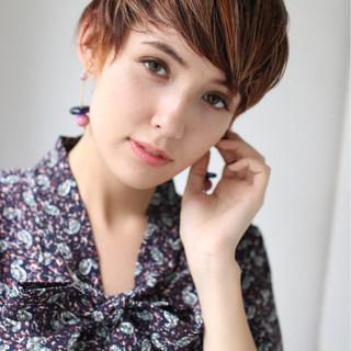 フェミニン ショート デート かわいい ヘアスタイルや髪型の写真・画像