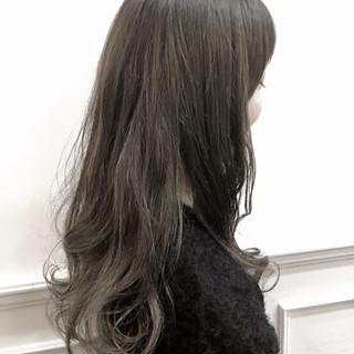 アッシュ 外国人風カラー ハイライト ロング ヘアスタイルや髪型の写真・画像