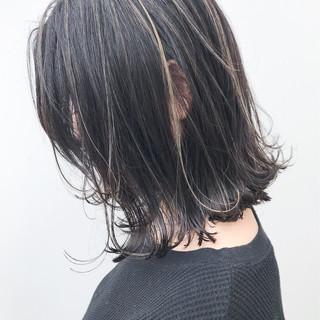 ハイライト イルミナカラー ボブ 大人かわいい ヘアスタイルや髪型の写真・画像