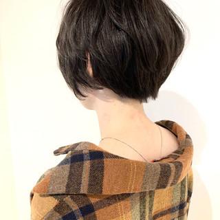 透明感カラー グレージュ ショート 大人可愛い ヘアスタイルや髪型の写真・画像
