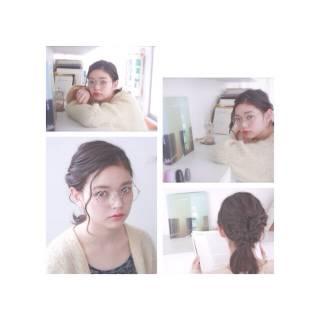 ヘアアレンジ モテ髪 編み込み 愛され ヘアスタイルや髪型の写真・画像 ヘアスタイルや髪型の写真・画像