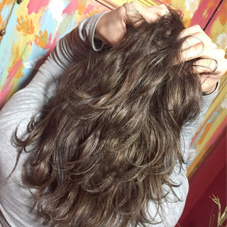外国人風 ハイライト 透明感 ミディアム ヘアスタイルや髪型の写真・画像