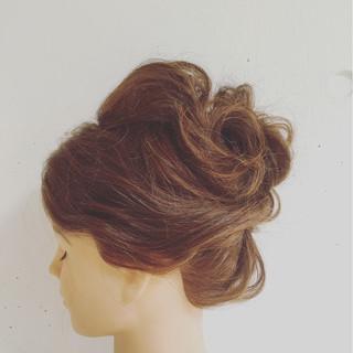 ヘアアレンジ ショート ゆるふわ フェミニン ヘアスタイルや髪型の写真・画像 ヘアスタイルや髪型の写真・画像