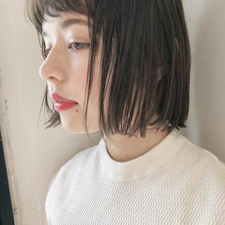 オフィス 透明感 女子力 ボブ ヘアスタイルや髪型の写真・画像 ヘアスタイルや髪型の写真・画像