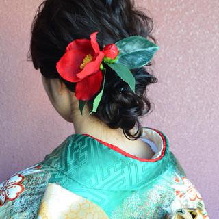 成人式 結婚式 簡単ヘアアレンジ ヘアアレンジ ヘアスタイルや髪型の写真・画像