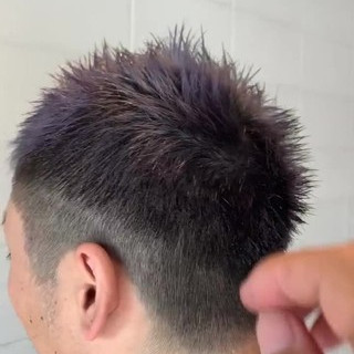 メンズ スキンフェード ストリート ラベンダーアッシュ ヘアスタイルや髪型の写真・画像