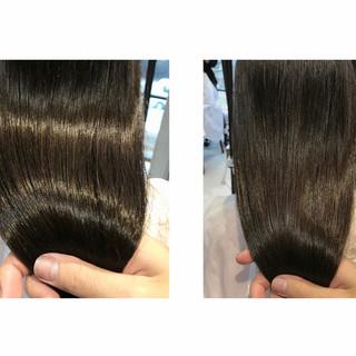 ツヤ髪 最新トリートメント ナチュラル セミロング ヘアスタイルや髪型の写真・画像