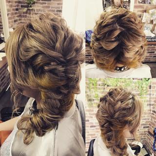 アウトドア アンニュイ ガーリー ヘアアレンジ ヘアスタイルや髪型の写真・画像