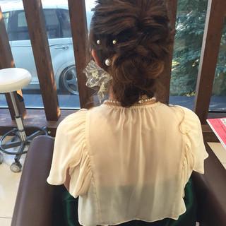 ヘアアレンジ 編み込み フェミニン セミロング ヘアスタイルや髪型の写真・画像 ヘアスタイルや髪型の写真・画像