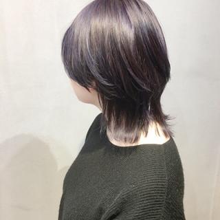 ベリーショート ストリート パープルアッシュ ラベンダーピンク ヘアスタイルや髪型の写真・画像