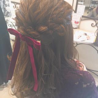 女子会 結婚式 モテ髪 ガーリー ヘアスタイルや髪型の写真・画像