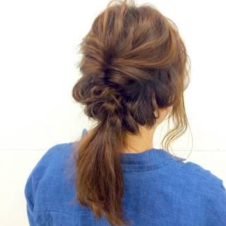 モテ髪 ショート 編み込み 愛され ヘアスタイルや髪型の写真・画像