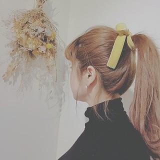 簡単ヘアアレンジ デート 冬 フェミニン ヘアスタイルや髪型の写真・画像