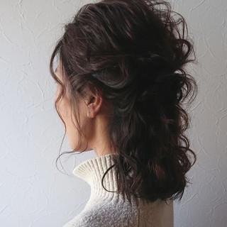 大人可愛い ボブ ヘアアレンジ ガーリー ヘアスタイルや髪型の写真・画像