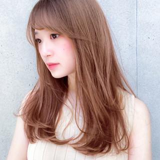 レイヤーロングヘア レイヤースタイル デジタルパーマ ハイトーンカラー ヘアスタイルや髪型の写真・画像