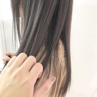 ナチュラル ハイトーン ダブルカラー ラベージュ ヘアスタイルや髪型の写真・画像